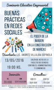 Afiche - Buenas Prácticas en Redes Sociales, El Poder de la Imagen en la Construcción de Marcas